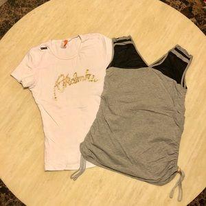 Bundle of Two JORDAN & AKADEMIKS T-shirts Size M/L